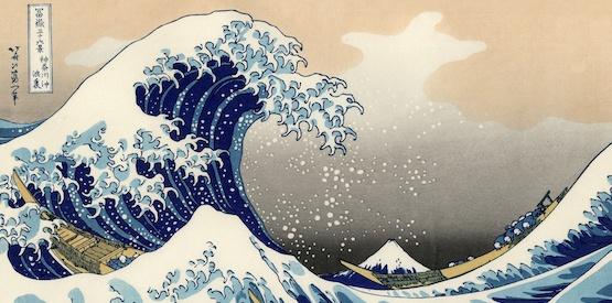 Hokusai e l'arte di ritrarre l'acqua